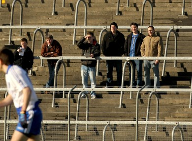 Fans watch Connacht take on Ulster in Markievicz Park yesterday.