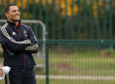 Dough Howlett at squad training yesterday.