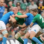 Without forwards coach, Get Smal, the onus fell onto Paul O'Connell's considerable shoulders to get his pack into the right frame of mind to front up against the Azzuri. As usual, he led by example and nullified Italy's traditional strength in the second half.<span class=
