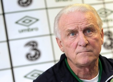 Manager Giovanni Trapattoni at the Grand Hotel in Malahide today.