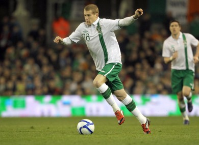McClean was eventually handed his debut.