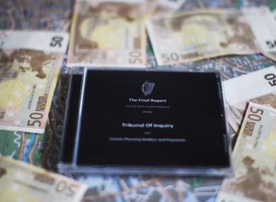 The CD version of the final report from the Mahon Tribunal.