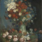 'Still life with Meadow Flowers and Roses,' a painting dismissed for years - want to see what they found underneath it? (Image via  Kroeller-Mueller Museum)