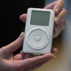 Apple launches the first iPod. (AP Photo/Julie Jacobson/PA)