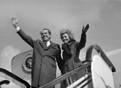 President Nixon and US first lady Pat Nixon.