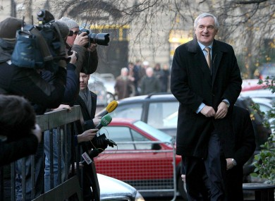 Bertie Ahern arrives to give evidence at the Mahon Tribunal in December 2007
