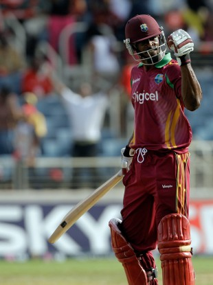 Runako Morton, in action during an ODI against Sri Lanka in June 2009.