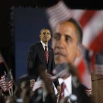 The US elects its first black president, Barack Obama. (AP Photo/David Guttenfelder, PA File)