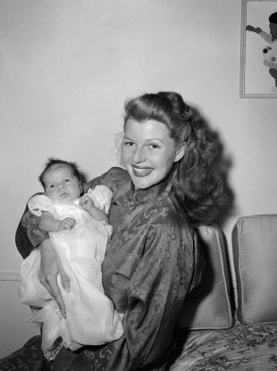 Hollywood star Rita Hayworth with her daughter Rebecca in January 1945. She said of her parenting style: