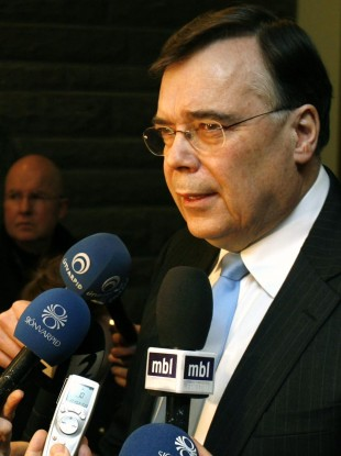 File: Iceland's then Prime Minister Geir Haarde pictured in 2009