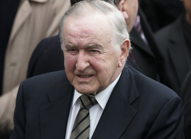 Former taoiseach Albert Reynolds, pictured in 2010: Ógra Fianna Fáil has proposed expelling Reynolds from the party due to