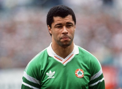 McGrath lining out for Ireland.