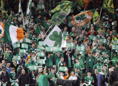 Irish fans have oversubscribed to the ticke