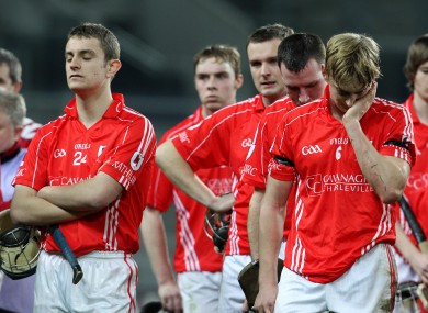 Fitzgerald's Charleville team-mates after their All-Ireland decider defeat.