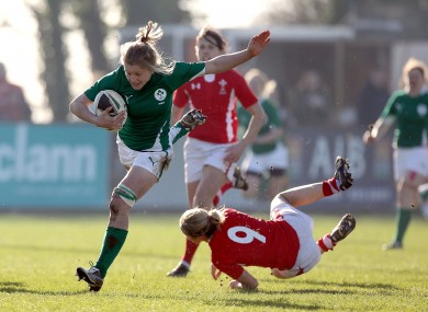 eland's Claire Molloy gets past Laura Prosser in a game at Ashbourne earlier this month.