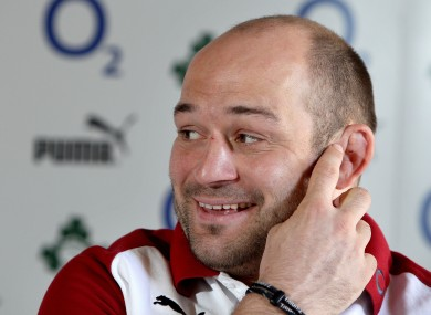 Rory Best at Carton House today.