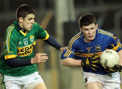 Kerry's Michael Brennan and John O'Callaghan of Tipperary.