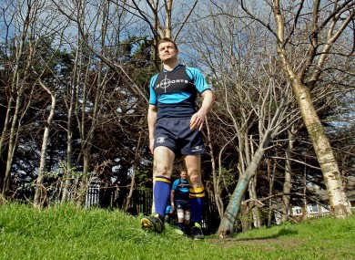 Brian O'Driscoll arrives for squad training at UCD today.