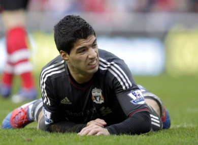 Liverpool's Uruguayan striker Luis Suarez.