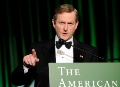 Enda Kenny speaking at the Washington DC event
