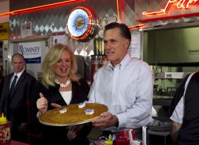 Pancake Monday - on the campaign trail with Romney and his wife Ann