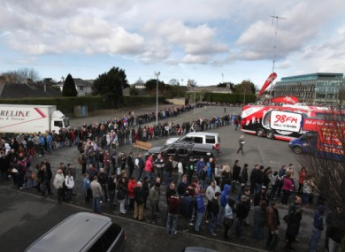 Saturday's queue to get into the RDS