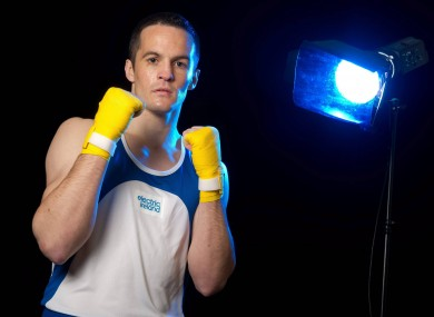 Irish boxer Darren O'Neill, who was speaking at an Electric Ireland event yesterday to mark 100 days until the Olympics begin.