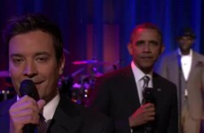 Down with the kids: Barack Obama slow-jams the news