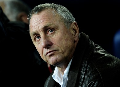 Cruyff is regarded as a cult footballing figure in Spain and his native Holland