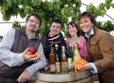 Margaret Jeffares, Good Food Ireland, Ciara Jackson, Grant Thornton, Ed Cooney, Executive Chef, Merrion Hotel, and David Llewellyn, Llewellyn Orchards.