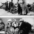 Titanic survivors on rescue ship, the Carpathia. (Topham/Topham Picturepoint/PA Images)
