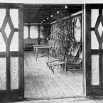 A part of one of the two £870 suites with a private promenade deck on board Titanic.
