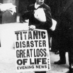 A newspaper boy spreads the news of the sinking of the Titanic on the streets of London. (Topham/Topham Picturepoint/PA Images)