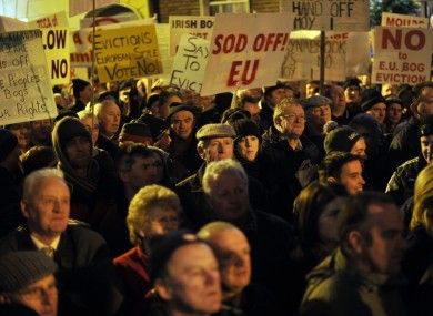 A protest outside Leinster House last month.