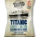 Nothing marks a maritime disaster quite like a bag of Taytos. On sale at whitestarmomentos.co.uk at £20 a box.