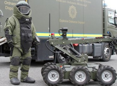 File photo of a member of the Army Bomb Disposal Team.