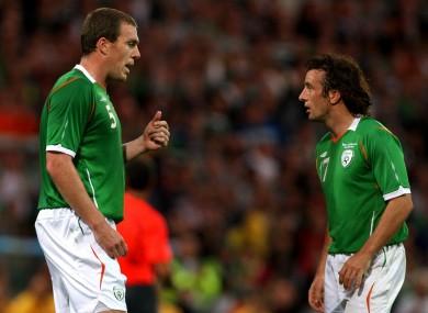 Euro hopefuls: Richard Dunne and Stephen Hunt.