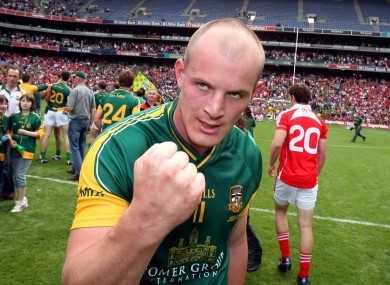 Sheridan after scoring the infamous goal to see off Louth in Croke Park.