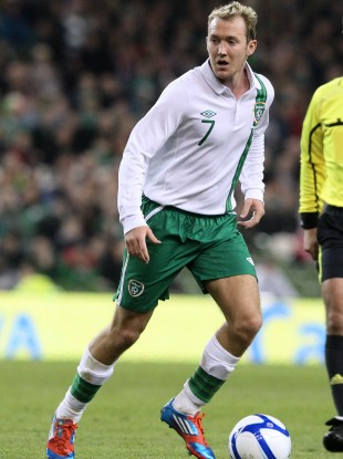 McGeady in action for Ireland earlier this year.