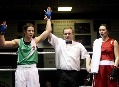 Katie Taylor after beating the Netherlands' Jessica Belder last month.