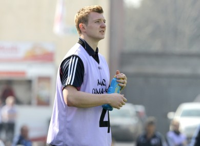 Joe Canning in his role as waterboy in Pearse Stadium.