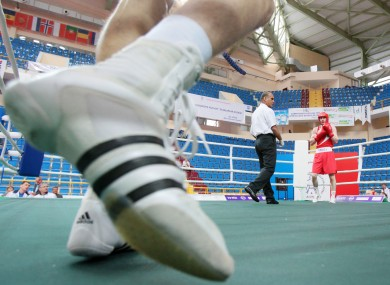 Ireland's Ross Hickey during his fight with Dimitri Galagot in Turkey.