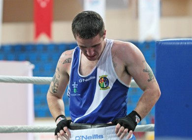 A dejected David Oliver Joyce following his defeat to Evaldas Petrauskas of Lithuania.