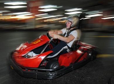 Joe Ward feeling the need for speed.