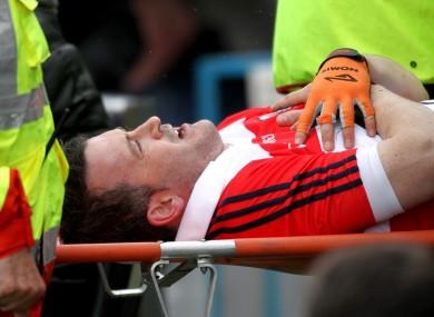 Donal Óg Cusack: injury lay-off.