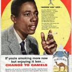 In the 1950s, Camel used baseball star Hank Aaron (pictured) to sell cigarettes. (Quote: Tobacco Explained)