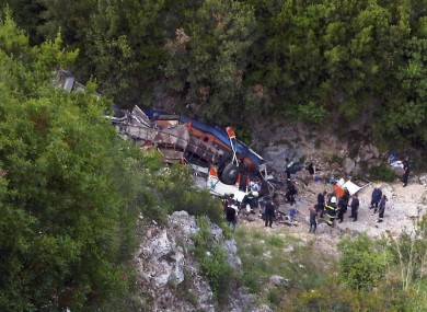 Police spokespersons said the bus carrying the students had fallen some 80 metres off the road.