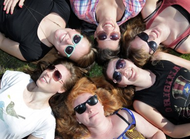 Griffith College students enjoy the sunshine in March