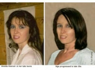 A picture showing Imelda before her disappearance, left, and how she may look later in life