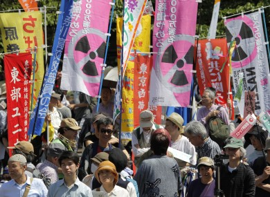 japan shuts down last nuclear reactor amid protests thejournal japan shuts down last nuclear reactor 390x285
